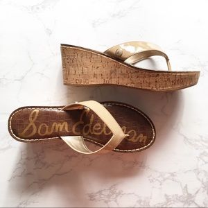 Sam Edelman 8.5 Romy Cork Wedge Thing Sandal